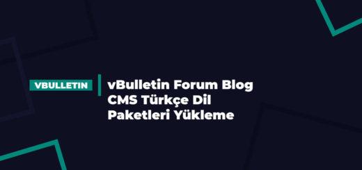 vBulletin Forum Blog CMS Türkçe Dil Paketleri Yükleme