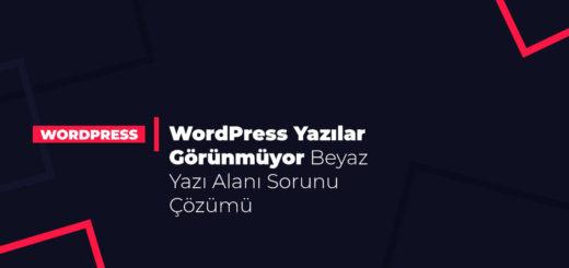 WordPress Yazılar Görünmüyor Beyaz Yazı Alanı Sorunu Çözümü