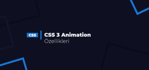 CSS3 Animation Özellikleri