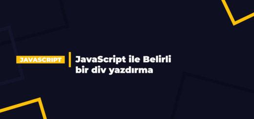JavaScript ile Belirli bir div yazdırma