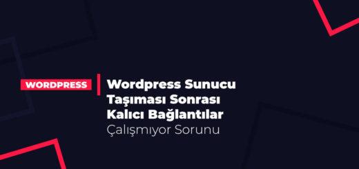 Wordpress Sunucu Taşıması Sonrası Kalıcı Bağlantılar Çalışmıyor Sorunu