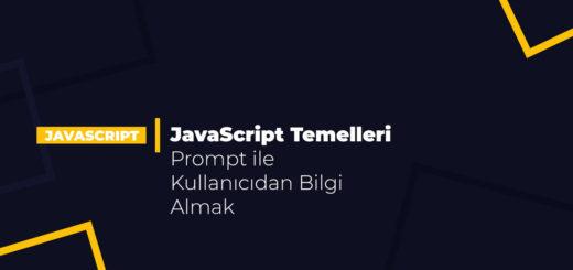 JavaScript Temelleri - Prompt ile Kullanıcıdan Bilgi Almak
