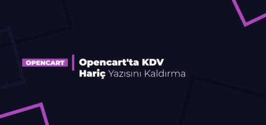 Opencart'ta KDV Hariç Yazısını Kaldırma