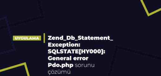 ERROR: Zend_Db_Statement_Exception: SQLSTATE[HY000]: General error: 1030 Pdo.php:234 sorunu çözümü