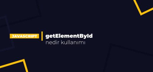 getElementById nedir kullanımı