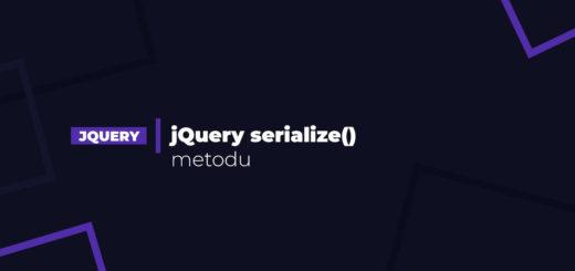 jQuery serialize() metodu